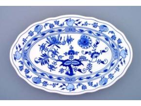Mísa oválná, 39 cm, cibulák, Český porcelán