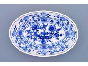 Mísa salátová oválná, 20 cm, cibulák, Český porcelán