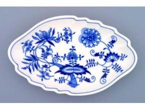 Mísa dvojlist, 24 cm, cibulák, Český porcelán