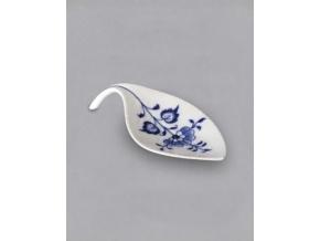 Miska na odkládání čajového sáčku / lísteček, 12,4 x 5,8 cm, cibulák, Český porcelán
