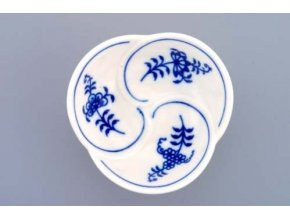 Miska trojlístek, 3,7 cm, cibulák, Český porcelán