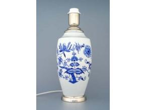 Lampový podstavec - váza 1211 s monturou, 27 cm, cibulák, Český porcelán