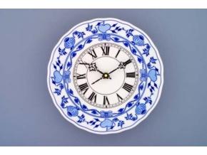 Hodiny plné / se strojkem, 24 cm, cibulák, Český porcelán