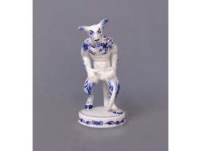 Čert Belzebub, 18 cm, cibulák, Český porcelán