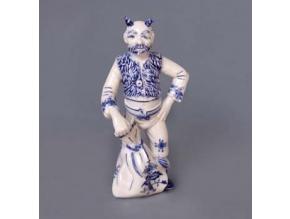 Čert Lucifer, 20 cm,  cibulák, Český porcelán