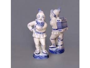 Trpaslík s harmonikou LOJZA, 22,5 cm, cibulák, Český porcelán