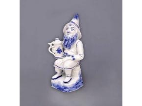 Trpaslík s korbelem Míťa, 16 cm, cibulák, Český porcelán