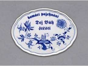 Boží požehnání, 24,5 x 18 cm, cibulák, Český porcelán
