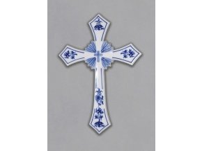 Svatý kříž, 306 x 213 mm, cibulák, Český porcelán