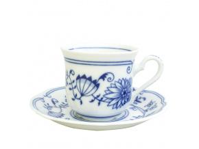 Šálek s podšálkem, český porcelán, cibulák, 200 ml, Mary-Anne, Leander