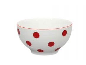 miska 14,5 cm cervene puntiky thun porcelanovy svet