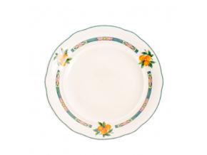 Mary-Anne, talíř mělký, 25 cm, slonová kost, ovoce, Leander
