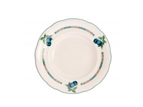 Mary-Anne, talíř hluboký, 23 cm, slonová kost, ovoce, Leander