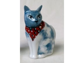 modrá kočička