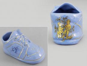 dětská botička - blíženec, modrý porcelán, Leander