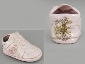 dětská botička - rak, růžový porcelán, Leander