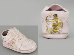 dětská botička - střelec, růžový porcelán, Leander