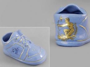 dětská botička - střelec, modrý porcelán, Leander