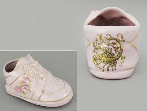 dětská botička - štír, růžový porcelán, Leander