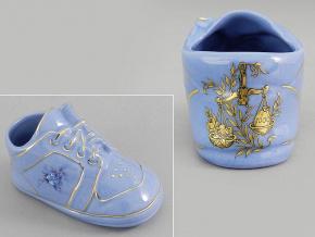 dětská botička - váhy, modrý porcelán, Leander