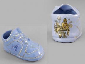 dětská botička - vodnář, modrý porcelán, Leander