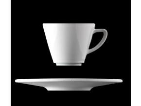 Šálek s podšálkem 180 ml, bílý porcelán, Pureline, Lilien