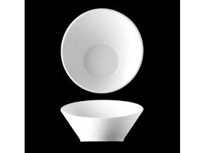 Miska seřízlá 21 cm, bílý porcelán, Pureline, Lilien