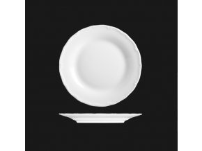 Talíř dezertní 17 cm, bílý porcelán, Verona, G. Benedikt