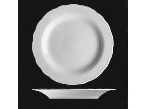 Talíř mělký 31 cm, bílý porcelán, Verona, G. Benedikt
