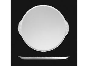 Talíř na dort 33 cm, bílý porcelán, Verona, G. Benedikt