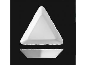 Miska kompotová trojhranná 14 cm, bílý porcelán, Verona, G. Benedikt
