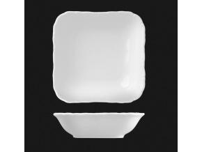 Mísa čtyřhranná 24 cm, bílý porcelán, Verona, G. Benedikt