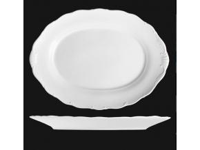 Mísa oválná 40 cm, bílý porcelán, Verona, G. Benedikt