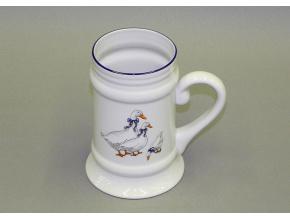 Korbel, český porcelán, 0,5 l, husy, Leander