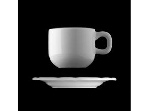 Šálek s podšálkem 310 ml, český porcelán, Benedikt, G. Benedikt