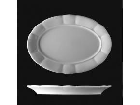 Mísa oválná 32 cm, český porcelán, Benedikt, G. Benedikt