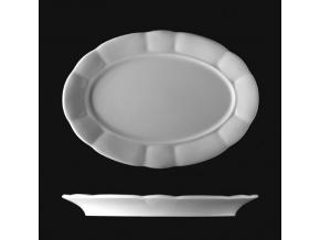 Mísa oválná 36 cm, český porcelán, Benedikt, G. Benedikt