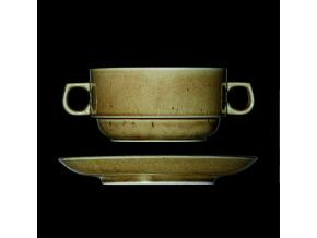 Šálek s podšálkem na polévku 460 ml, český porcelán, Country Range, G. Benedikt