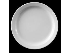 Talíř mělký 24 cm, bílý porcelán, Praha, G. Benedikt
