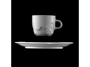 Šálek s podšálkem 200 ml, bílý porcelán, Melodie, G. Benedikt