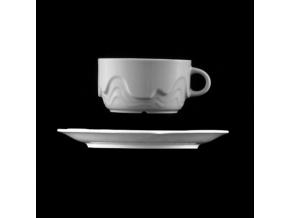 Šálek s podšálkem 240 ml, bílý porcelán, Melodie, G. Benedikt