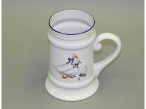 Korbel, český porcelán, 0,35 l, husy, Leander