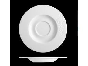 Podšálek 17 cm, bílý porcelán, Nová melodie, G. Benedikt