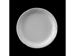 Talíř dezertní 17 cm, bílý porcelán, Melodie, G. Benedikt