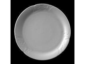 Talíř mělký 25 cm, bílý porcelán, Melodie, G. Benedikt