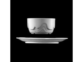 Miska s podšálkem 320 ml, bílý porcelán, Melodie, G. Benedikt