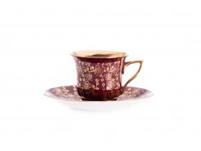 Windsor, šálek s podšálkem - purpur, drobné kvítky