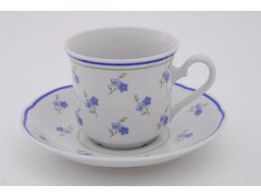 Mary-Anne, čajový šálek 0,2 l s podšálkem, pomněnky, Leander