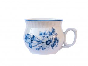hrnek darume modre kvety cesky porcelan
