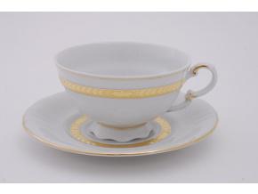 Sonáta, čajový šálek s podšálkem, zlatý cop